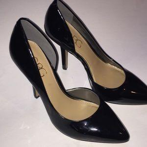 BCBG PARIS Patent black pumps heels 8B 38
